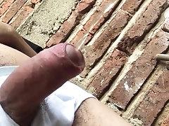 Close Up Uncut Teen Cock Piss Public