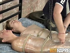Barely Legal 18yo Teen Boys Tied Up And Edged By 60yo Master Daddy (BDSM)