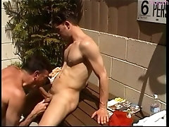 outdoor very good looking str8 married ex navy guy gets blowjob rim and more from me filipina glamou