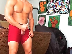 jock gets really horny while trying on different clothes