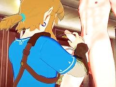 Zelda Genshin Impact Yaoi - Link Handjob to Tartaglia