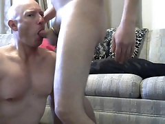Gay sissy faggot Mike Karacson sucks cock gives blowjob