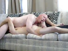Gay sissy Mike Karacson sucking cock oral blowjob