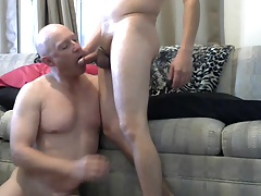 Gay sissy Mike Karacson gives blowjob oral sucks cock