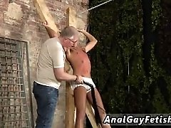 Older gay men having sex with young men outdoors first time He's tied up