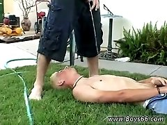 movies of sexy gay male buttock Backyard Pissfest with Shane!