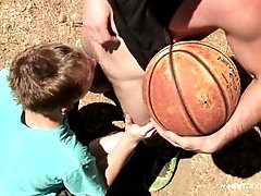 NextDoorTwink Basketball Court BJ And Fuck
