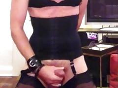 Massive cum load on my stocking feet
