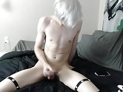 Horny blond twink camshow