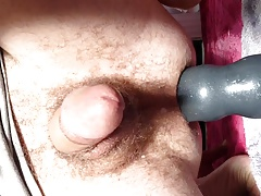Large big boy dildo destroying Twink ass