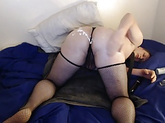 Shiny James - Sissy doggy anal dildo assToMouth a2m