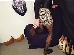 Sissy Anna #13 pantyhose high heels feet