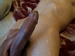 sucking and jacking friends cock nice cumshot