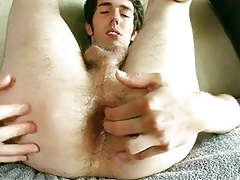 Horny Young Dude Fingering His Hole