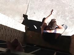 Spray from the balcony