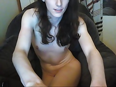 Pretty Tgirl masturbate in panties