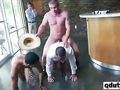 Horny dudes banging tight butt