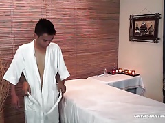 Asian Boys Russel and Nishi Barebacking