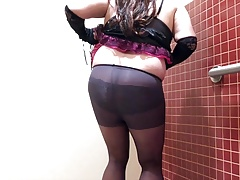 Series 2 cd in black satin purple lingerie ash lace panty.mp