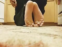 My little twink footjob tease