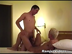 Kinky blonde guy fucks his skinny boyfriend like a boss