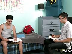 Cute young gay dudes having fun