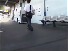 Asian cute japanese boy have sex in the train old and young