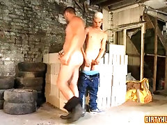 Muscle twinks ass fuck with cum eating
