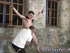 Shirtless males in bondage video gay Sean McKenzie is corded up and at