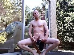 Finally summer, nude masturbating outside.