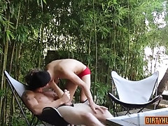 Muscle twink anal sex and cumshot