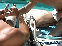 So young gay twink hung tube xxx Zack & Mike - Jackin by the Pool