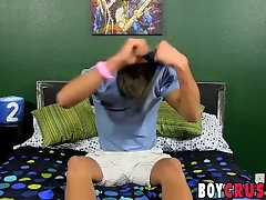 Young gay Tanner Shane fingers smooth ass while stroking