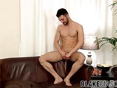 Nathan Raider fantasizes about cocks while masturbating