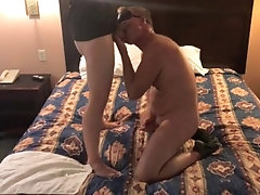 Young blond guy breeds older bottom