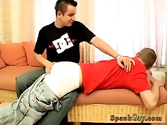 Spanked shaved and diapered gay Caught Wanking & Spanked!