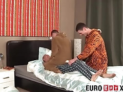 Dick riding twinks have a hardcore ass smashing threeway