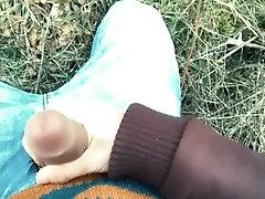 Foreskin cum mess - Teen cumshot outdoor
