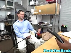Cute twink has his ass ravaged at the office