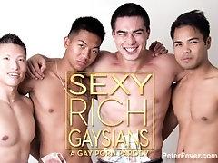 Muscular Asian masseur Slams Lean Asian Twink, SEXY RICH GAYSIANS 3