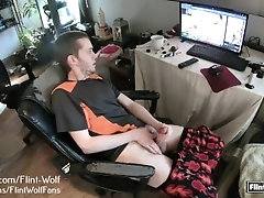 Flint-Wolf.com ultimate daily jerk off challenge! day 56.
