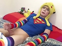 Twink plays with toys and jerks off