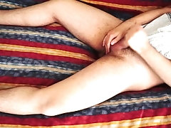Chubby hairy boy cumming on underwear. Underwear fetish.
