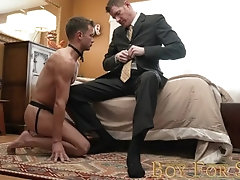 BoyForSale - Horny boy gets fucked after submitting to Dom daddy owner