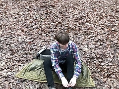 Amazing TEEN BOY CAMPING into the FOREST FOR Jerking OFF & CUM AS VULCANO