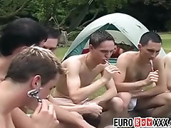 Twink gays sucking and fucking in outdoor hardcore orgy
