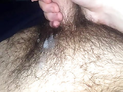 HAIRY TEEN JERKS UNCUT DICK AND CUMS