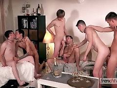 Ethan Duval's Twink Party GangBang