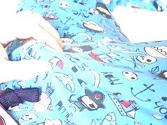 making stickies in my pyjamas