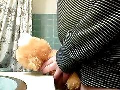 fucking a stuffed animal I guess